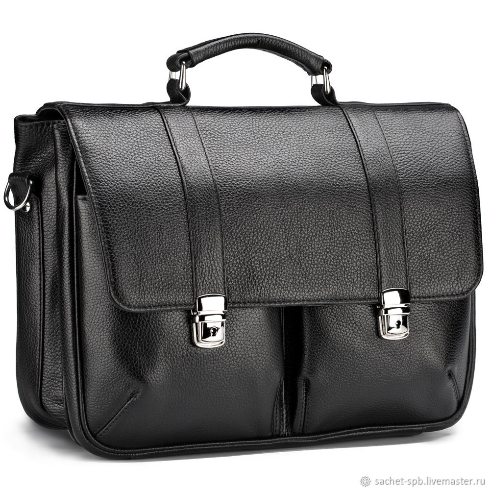 Leather briefcase 'Joseph' (black), Brief case, St. Petersburg,  Фото №1