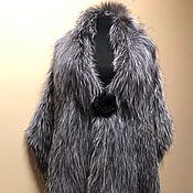 Аксессуары handmade. Livemaster - original item Stole knitted from silver Fox fur (width 50 cm). Handmade.