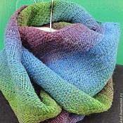 Аксессуары handmade. Livemaster - original item Snood Northern lights 2 bridle knit collar tube. Handmade.
