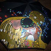 Аксессуары ручной работы. Ярмарка Мастеров - ручная работа Зонт с росписью -  Поцелуй. Handmade.