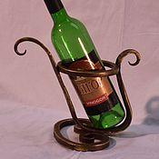 Сувениры и подарки ручной работы. Ярмарка Мастеров - ручная работа Кованая подставка под вино. Handmade.