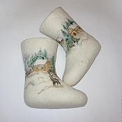 """Обувь ручной работы. Ярмарка Мастеров - ручная работа Детские валенки """"Зимняя сказка"""". Handmade."""