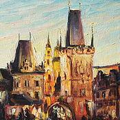 """Картины и панно ручной работы. Ярмарка Мастеров - ручная работа Картина маслом """"Прага"""". Handmade."""