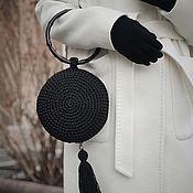 Классическая сумка ручной работы. Ярмарка Мастеров - ручная работа Круглая сумочка. Handmade.