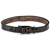 handmade. Livemaster - original item Men`s leather belt