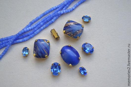 """Для украшений ручной работы. Ярмарка Мастеров - ручная работа. Купить Набор """"Blue gold"""". Handmade. Голубой, набор"""