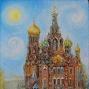 Картины и панно handmade. Livemaster - original item The picture View of St. Petersburg spilled blood Print. Handmade.