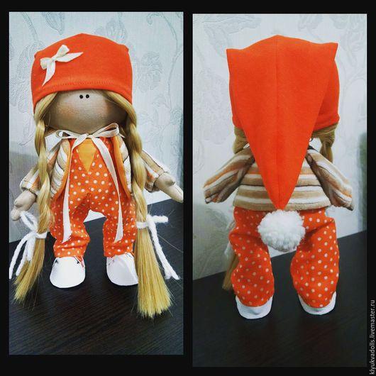 Куклы тыквоголовки ручной работы. Ярмарка Мастеров - ручная работа. Купить Малышка Софа. Handmade. Рыжий, интерьерная кукла, кукла