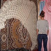 Аксессуары ручной работы. Ярмарка Мастеров - ручная работа Большая шаль из белого козьего пуха. Handmade.