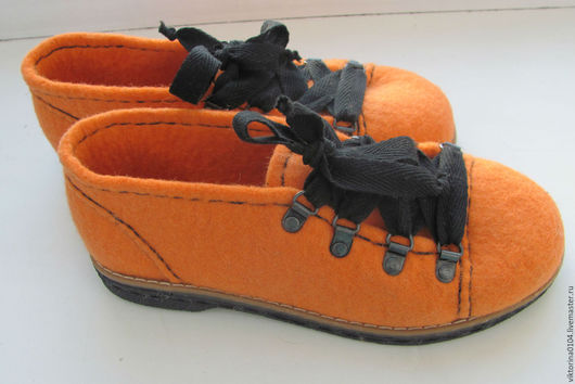 """Обувь ручной работы. Ярмарка Мастеров - ручная работа. Купить Туфли валяные """" Еnergy"""". Handmade. Оранжевый, шерсть 100%"""
