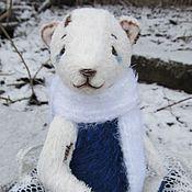 Куклы и игрушки ручной работы. Ярмарка Мастеров - ручная работа Мишка морозный. Handmade.