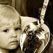 """Подарки ручной работы. Ярмарка Мастеров - ручная работа Серебряная чайная ложка """"Ангел-Хранитель"""" с гравировкой. Handmade."""