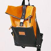 Сумки и аксессуары handmade. Livemaster - original item Urban leather backpack Druid Yellow yellow. Handmade.