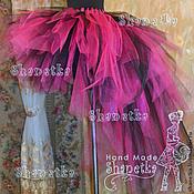 Одежда handmade. Livemaster - original item Skirt-tutu with a train of tulle Raspberry. Handmade.