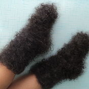 Аксессуары handmade. Livemaster - original item Socks down Curly. Handmade.