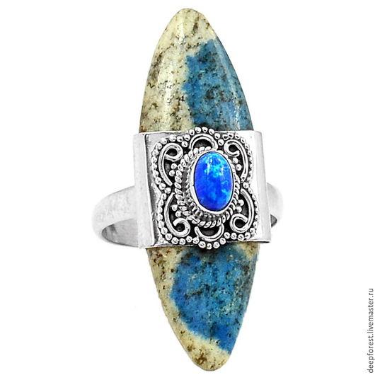 """Кольца ручной работы. Ярмарка Мастеров - ручная работа. Купить Кольцо редкий К2- синий камень """"Чогори"""". Handmade."""