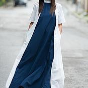 Одежда handmade. Livemaster - original item Long loose dress, Summer dress - DR0665PLV. Handmade.