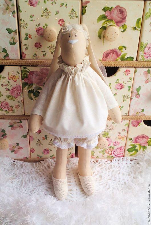 Куклы Тильды ручной работы. Ярмарка Мастеров - ручная работа. Купить Зая - ангел снов. Handmade. Белый, ангел снов
