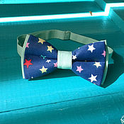 Аксессуары handmade. Livemaster - original item Tie Miriada / dark blue bow tie with stars. Handmade.