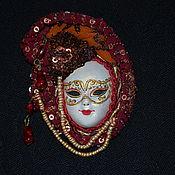 Украшения handmade. Livemaster - original item Brooch Venetian mask. Handmade.