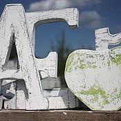 Сувениры и подарки ручной работы. Ярмарка Мастеров - ручная работа Винтажные деревянные буквы. Handmade.