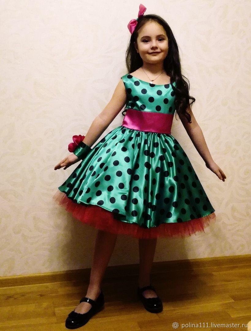 Платье для выпускного в горошек, Платья, Москва, Фото №1