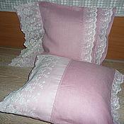 Pillow handmade. Livemaster - original item Kit linen decorative pillow case