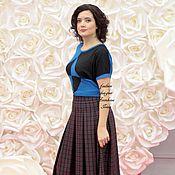 Юбки ручной работы. Ярмарка Мастеров - ручная работа Теплая юбка шотландка. Handmade.