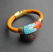 Украшения handmade. Livemaster - original item Leather bracelet Regaliz