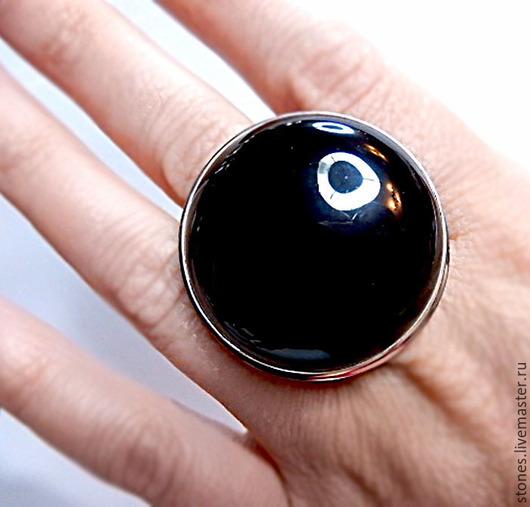 """Кольца ручной работы. Ярмарка Мастеров - ручная работа. Купить Кольцо """"ОБСИДИАН"""", черный.. Handmade. Черный, крупные украшения, кабошон"""