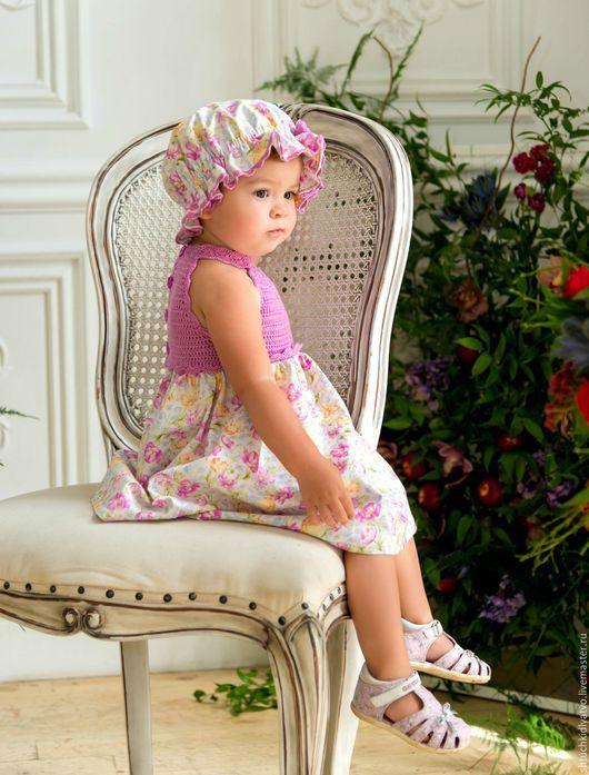 """Одежда для девочек, ручной работы. Ярмарка Мастеров - ручная работа. Купить Комплект """"Милашка"""". Handmade. Комбинированный, вязание, роза"""