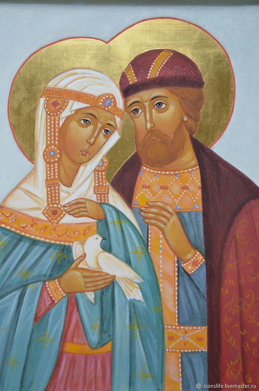 Картинки иконы святых петра и февронии, смешным
