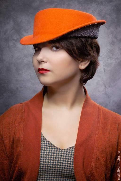"""Шляпы ручной работы. Ярмарка Мастеров - ручная работа. Купить Шляпка """"Аргентинское танго"""". Handmade. Рыжий, яркая шляпка"""