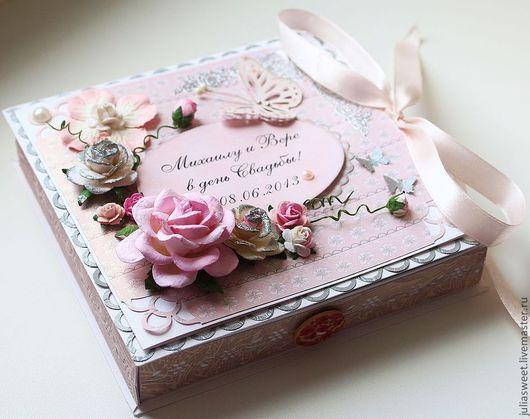 """Конверты для денег ручной работы. Ярмарка Мастеров - ручная работа. Купить Большая коробочка для денег """"Розовое облако"""". Handmade."""