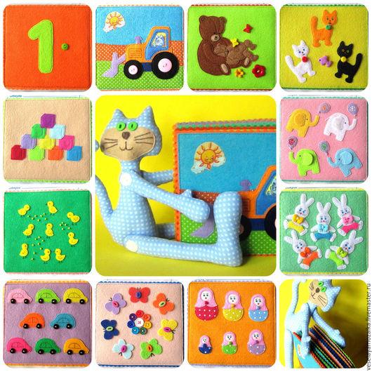 """Развивающие игрушки ручной работы. Ярмарка Мастеров - ручная работа. Купить Карточки из фетра """"Счет до 10"""". Handmade. Комбинированный"""
