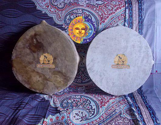 Ударные инструменты ручной работы. Ярмарка Мастеров - ручная работа. Купить Солнце и Луна шаманские бубны. Handmade. Рыжий