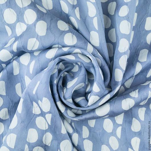 Шитье ручной работы. Ярмарка Мастеров - ручная работа. Купить Итальянская ткань, шелк 100%. Handmade. Комбинированный, горох, италия