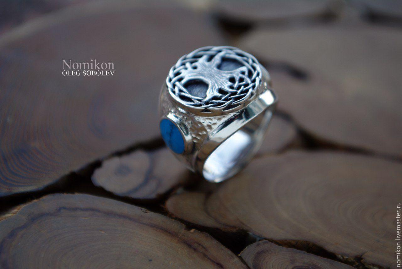 Перстень с Мировым древом Иггдрасиль, Кольца, Санкт-Петербург, Фото №1