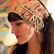 Аксессуары ручной работы. Ярмарка Мастеров - ручная работа Повязка для волос вязаная. Handmade.
