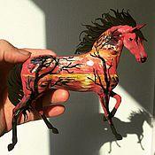 """Сувениры и подарки ручной работы. Ярмарка Мастеров - ручная работа фигурка """"Лошадь прерий"""" (расписная лошадь статуэтка). Handmade."""