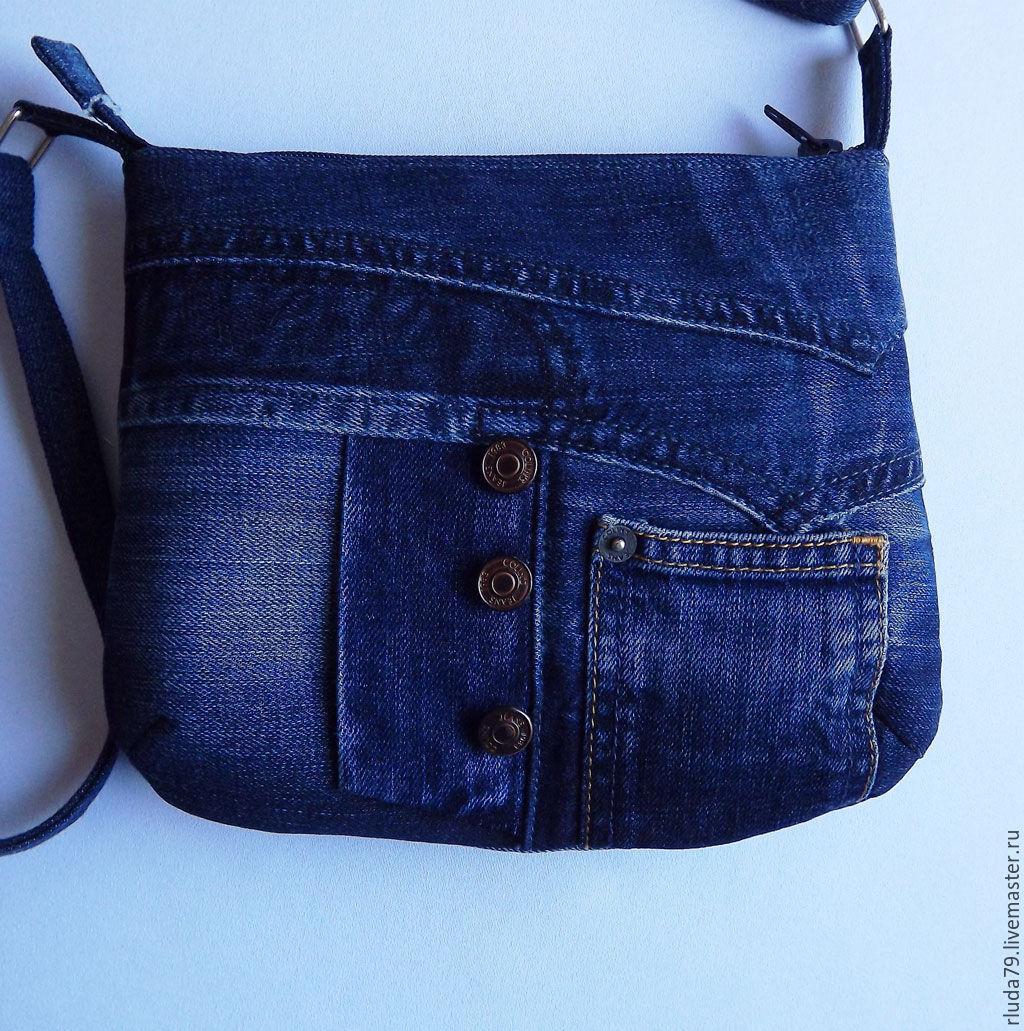 Джинсовая маленькая сумочка своими руками 45