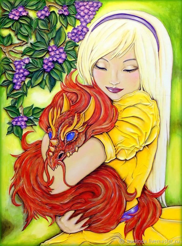 Девочка и дракон, Картины, Москва, Фото №1