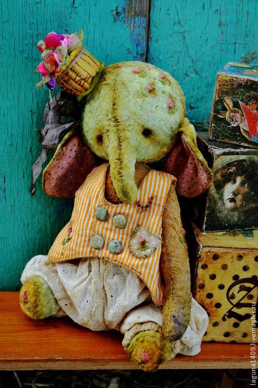"""Мишки Тедди ручной работы. Ярмарка Мастеров - ручная работа. Купить Плюшевый слоник """" Весенний ситец"""". Handmade. Разноцветный"""