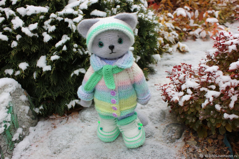 Вязаная кошечка, Мягкие игрушки, Новосибирск,  Фото №1