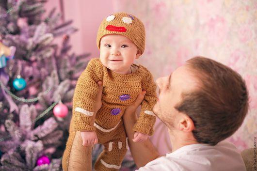 Детские карнавальные костюмы ручной работы. Ярмарка Мастеров - ручная работа. Купить Костюм пряничного человечка для фотосессии. Handmade. Для фотосессии
