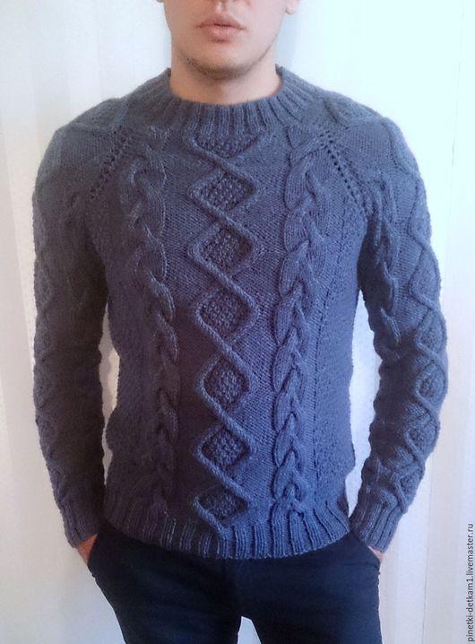 Для мужчин, ручной работы. Ярмарка Мастеров - ручная работа. Купить Мужской свитер Спираль. Handmade. Свитер, в подарок мужчине