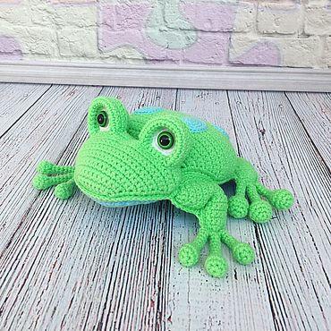 Куклы и игрушки ручной работы. Ярмарка Мастеров - ручная работа Лягушка, вязаная лягушка, Царевна лягушка. Handmade.