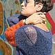 """Кофты и свитера ручной работы. Ярмарка Мастеров - ручная работа. Купить Свитер """"Гранж"""". Handmade. Синий, свитер, colorblocking, knitting"""