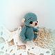 Мишка игрушка Крошка Аквамаринчик сидит