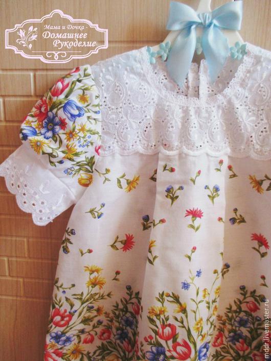 Одежда для девочек, ручной работы. Ярмарка Мастеров - ручная работа. Купить Платье для девочки Луговые Цветы. Handmade. Платье для девочки